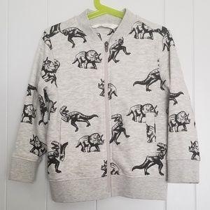 H&M Dinosaur Zipper Sweater